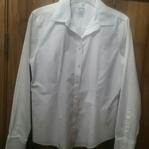 White, long sleeve,  fitted button down-Brooks Bro